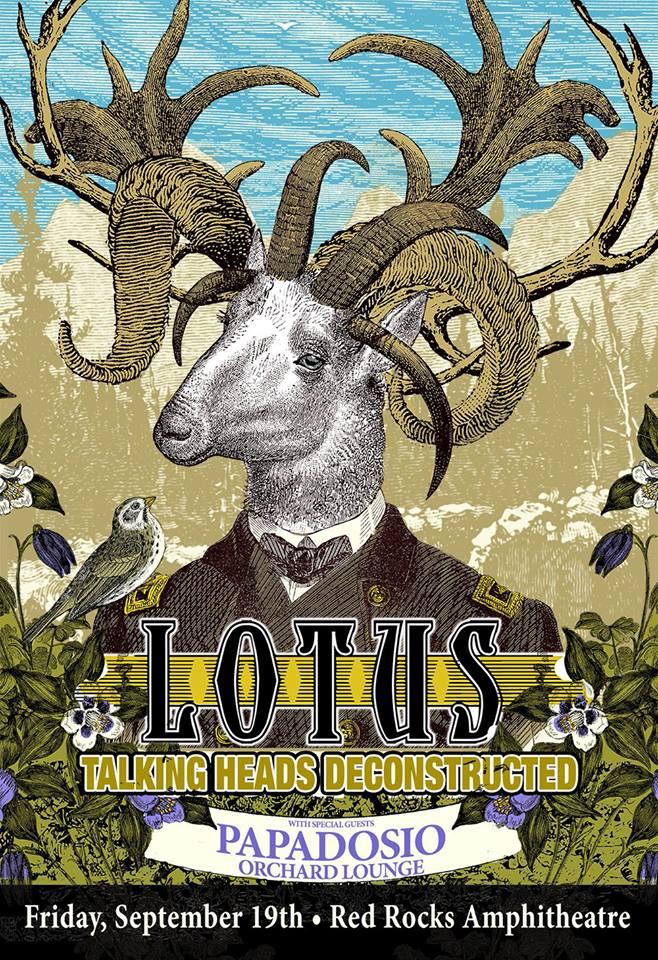 lotus red rocks poster